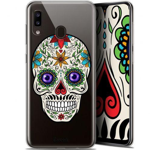 """Coque Gel Samsung Galaxy A20 (6.4"""") Extra Fine Skull - Maria's Flower"""