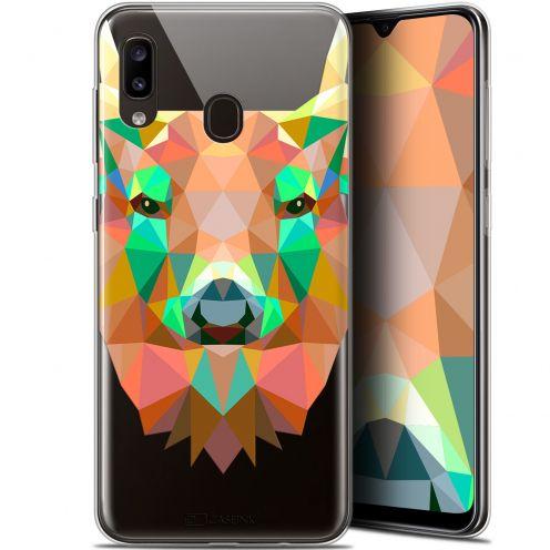 "Coque Gel Samsung Galaxy A20 (6.4"") Extra Fine Polygon Animals - Cerf"