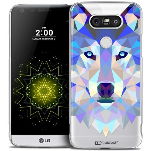 Coque Crystal LG G5 Extra Fine Polygon Animals - Loup