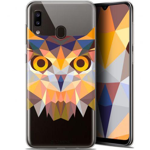 "Coque Gel Samsung Galaxy A20 (6.4"") Extra Fine Polygon Animals - Hibou"