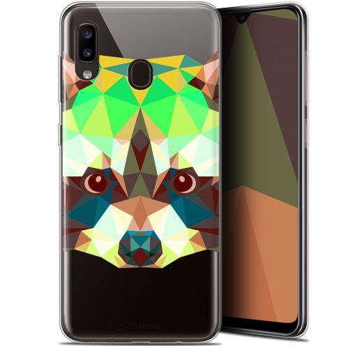 """Coque Gel Samsung Galaxy A20 (6.4"""") Extra Fine Polygon Animals - Raton Laveur"""