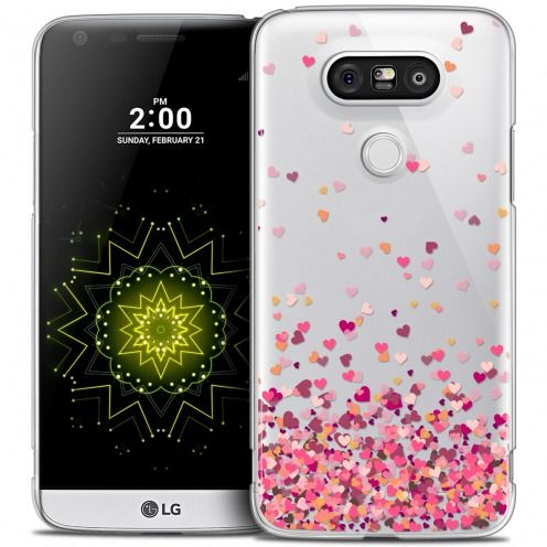 Coque Crystal LG G5 Extra Fine Sweetie - Heart Flakes