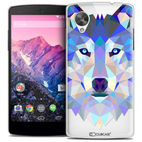 Coque Crystal Nexus 5 Extra Fine Polygon Animals - Loup
