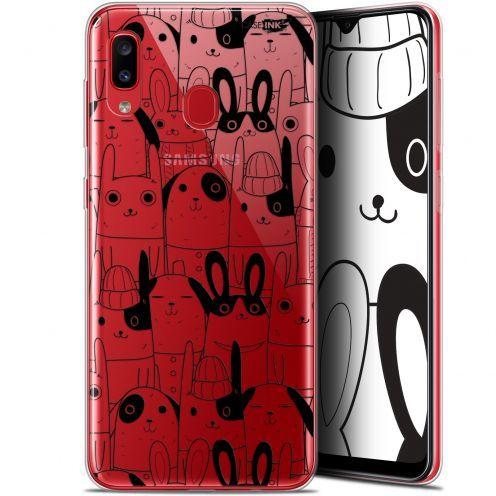 "Coque Gel Samsung Galaxy A20 (6.4"") Extra Fine Motif - Lapin Noir"