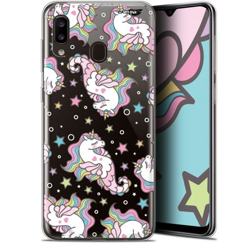 "Coque Gel Samsung Galaxy A20 (6.4"") Extra Fine Motif - Licorne Dormante"