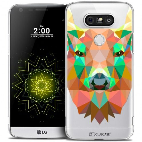 Coque Crystal LG G5 Extra Fine Polygon Animals - Cerf