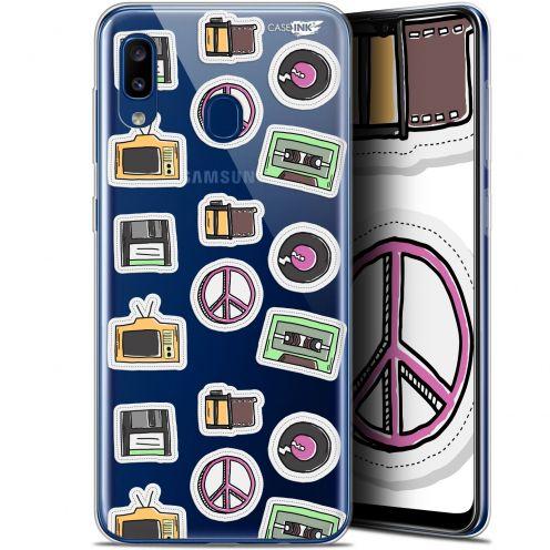 """Coque Gel Samsung Galaxy A20 (6.4"""") Extra Fine Motif - Vintage Stickers"""