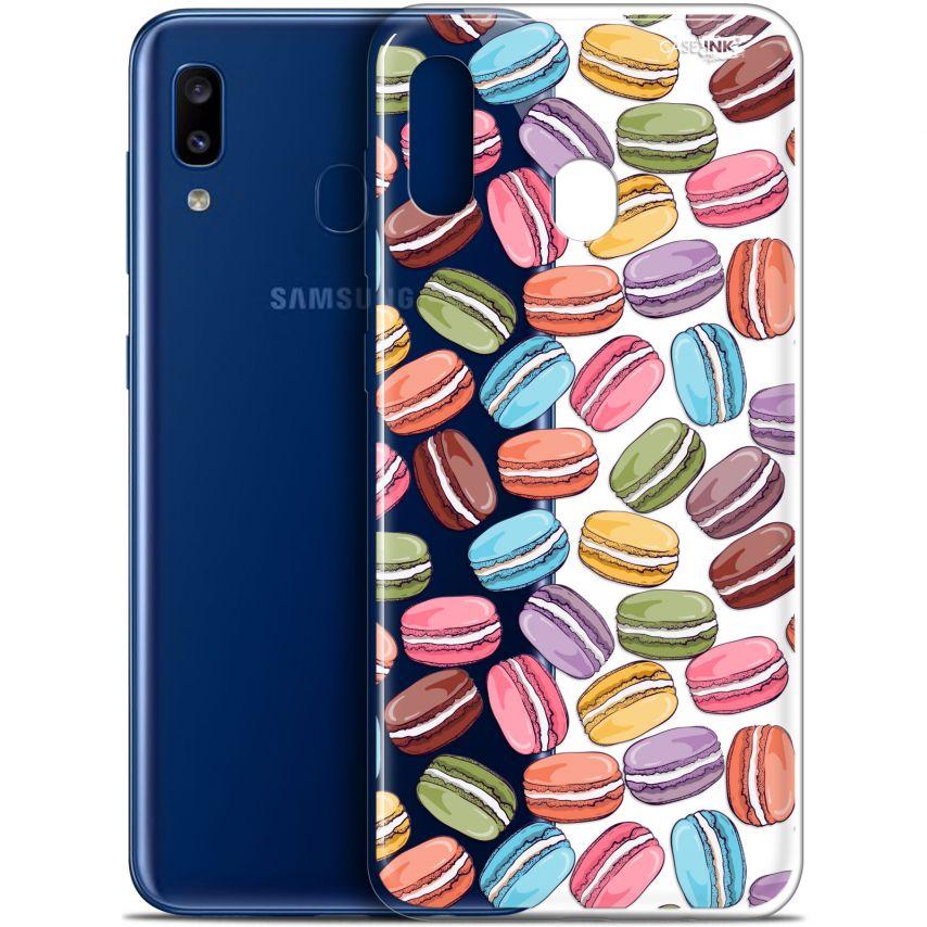 "Coque Gel Samsung Galaxy A20 (6.4"") Extra Fine Motif - Macarons"