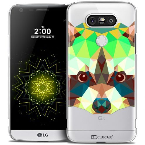 Coque Crystal LG G5 Extra Fine Polygon Animals - Raton Laveur