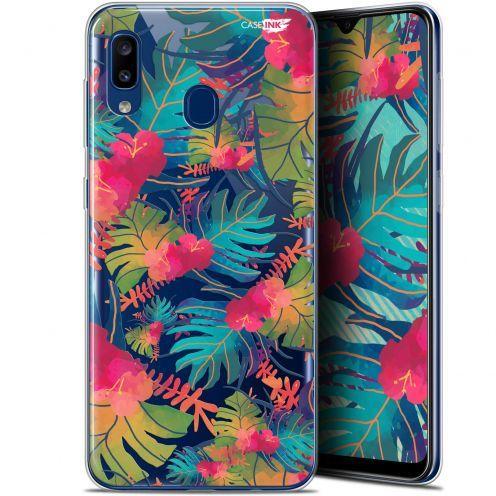 "Coque Gel Samsung Galaxy A20 (6.4"") Extra Fine Motif - Couleurs des Tropiques"