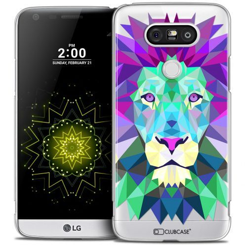 Coque Crystal LG G5 Extra Fine Polygon Animals - Lion