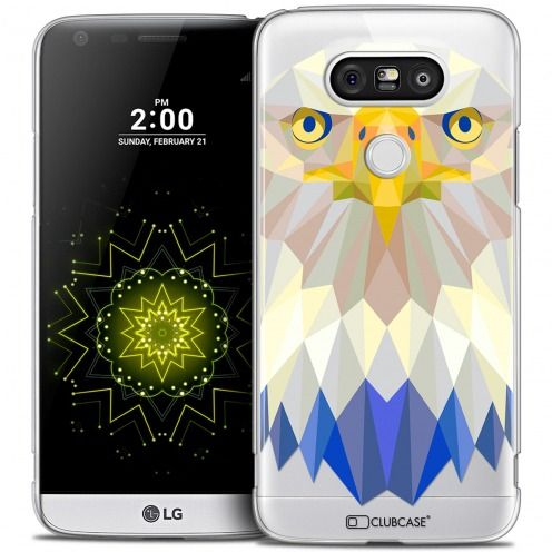 Coque Crystal LG G5 Extra Fine Polygon Animals - Aigle