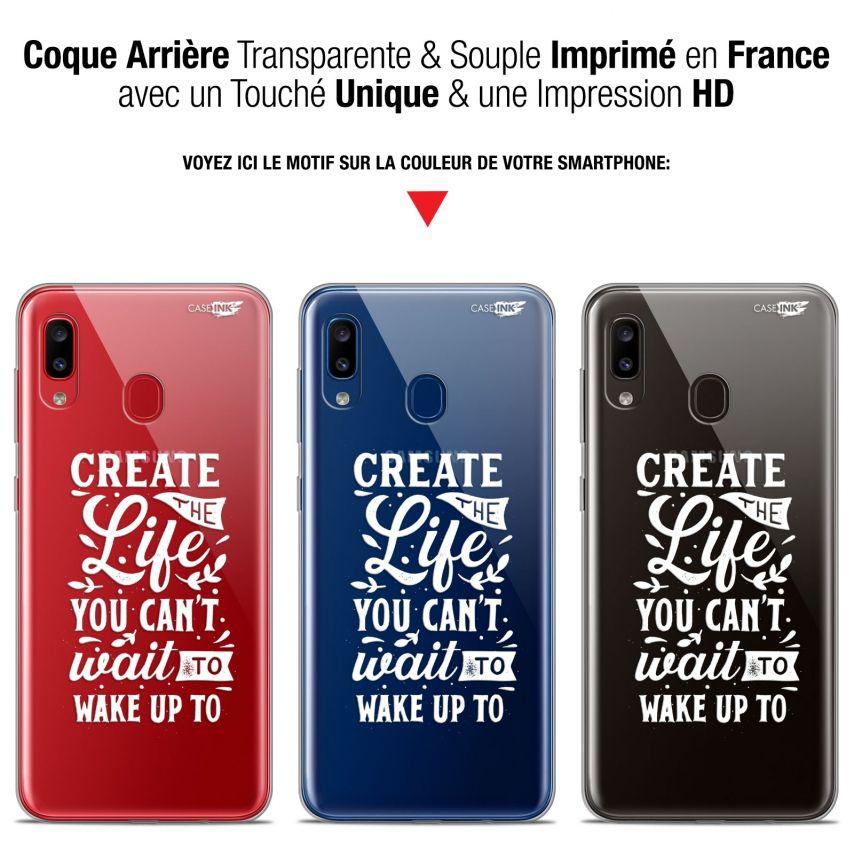 "Coque Gel Samsung Galaxy A20 (6.4"") Extra Fine Motif - Wake Up Your Life"