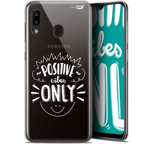 "Coque Gel Samsung Galaxy A20 (6.4"") Extra Fine Motif -  Positive Vibes Only"