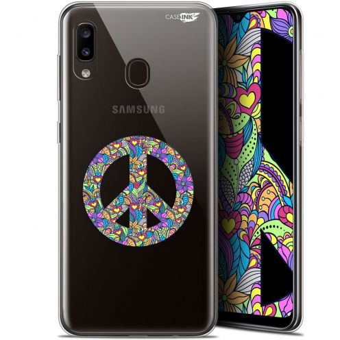 "Coque Gel Samsung Galaxy A20 (6.4"") Extra Fine Motif -  Peace And Love"