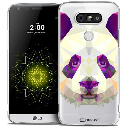 Coque Crystal LG G5 Extra Fine Polygon Animals - Panda