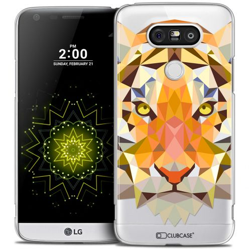 Coque Crystal LG G5 Extra Fine Polygon Animals - Tigre