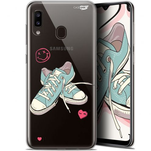 "Coque Gel Samsung Galaxy A20 (6.4"") Extra Fine Motif - Mes Sneakers d'Amour"