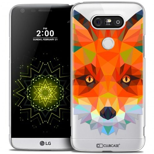 Coque Crystal LG G5 Extra Fine Polygon Animals - Renard