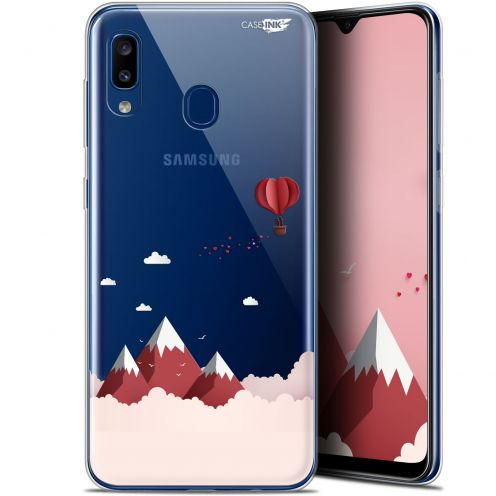 """Coque Gel Samsung Galaxy A20 (6.4"""") Extra Fine Motif - Montagne En Montgolfière"""