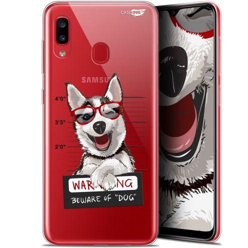 "Coque Gel Samsung Galaxy A20 (6.4"") Extra Fine Motif - Beware The Husky Dog"