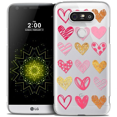 Coque Crystal LG G5 Extra Fine Sweetie - Doodling Hearts