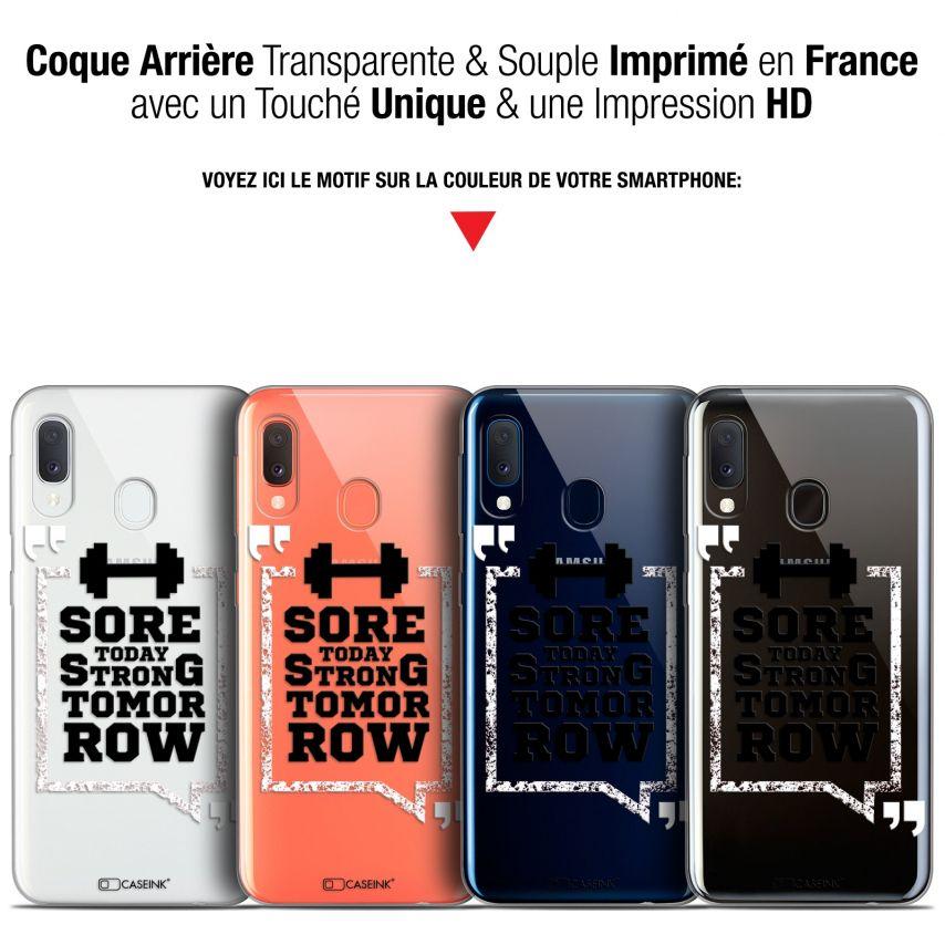 "Coque Gel Samsung Galaxy A20E (5.8"") Extra Fine Quote - Strong Tomorrow"