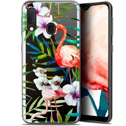 "Coque Gel Samsung Galaxy A20E (5.8"") Extra Fine Watercolor - Tropical Flamingo"