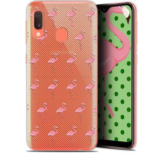 "Coque Gel Samsung Galaxy A20E (5.8"") Extra Fine Pattern - Les flamants Roses Dots"