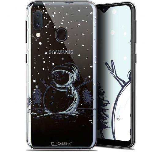 "Coque Gel Samsung Galaxy A20E (5.8"") Extra Fine Noël 2017 - Bonhomme de Neige"