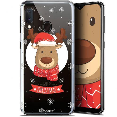 """Coque Gel Samsung Galaxy A20E (5.8"""") Extra Fine Noël 2017 - Cerf à Echarpe"""