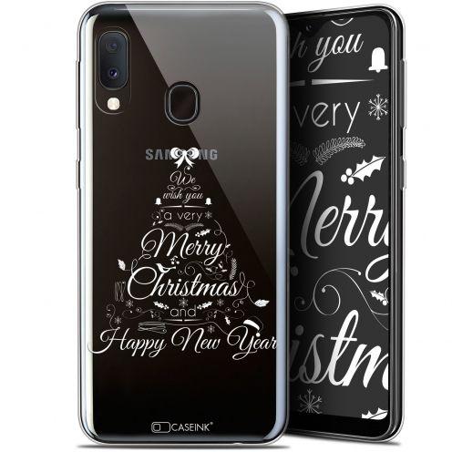 """Coque Gel Samsung Galaxy A20E (5.8"""") Extra Fine Noël 2017 - Calligraphie"""