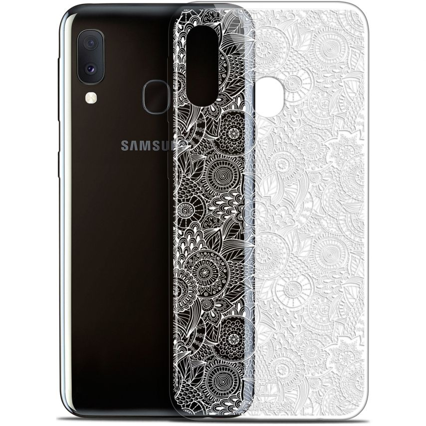"Coque Gel Samsung Galaxy A20E (5.8"") Extra Fine Dentelle Florale - Blanc"