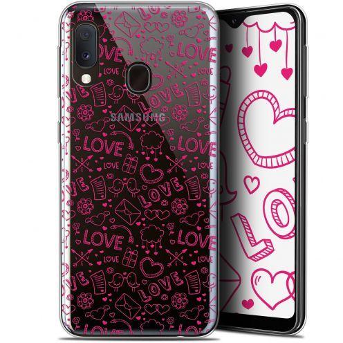 "Coque Gel Samsung Galaxy A20E (5.8"") Extra Fine Love - Doodle"