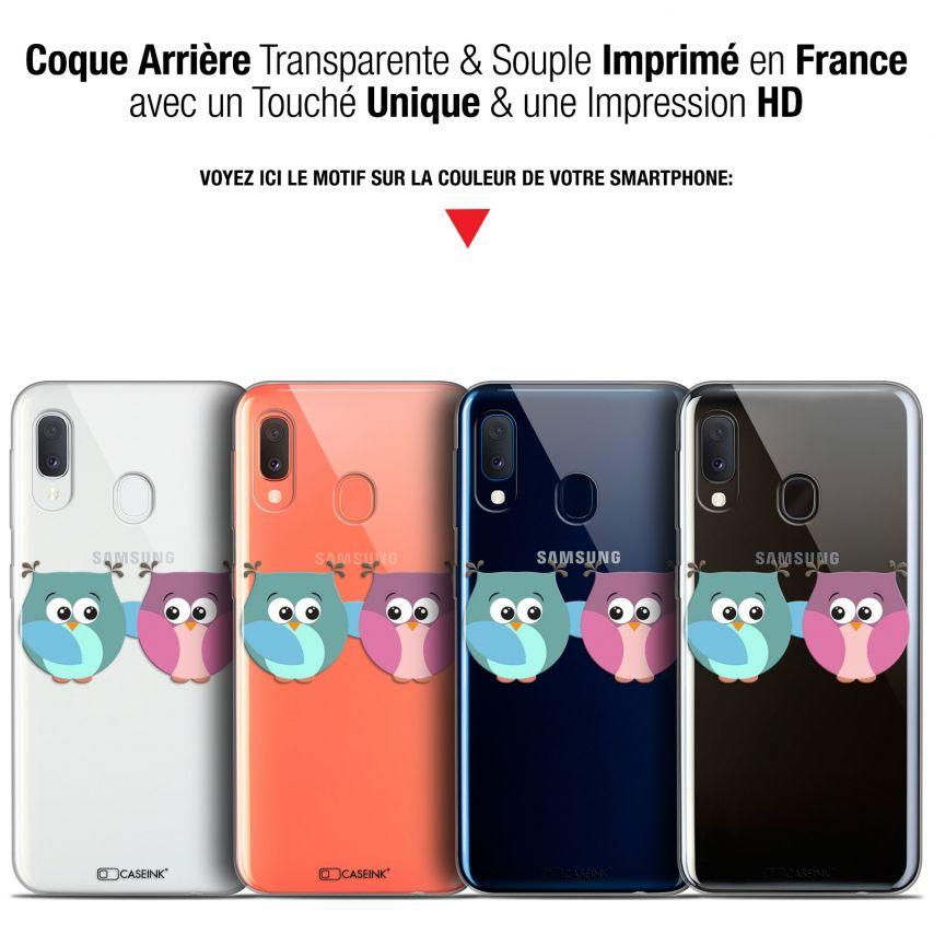 """Coque Gel Samsung Galaxy A20E (5.8"""") Extra Fine Love - Hibous à deux"""