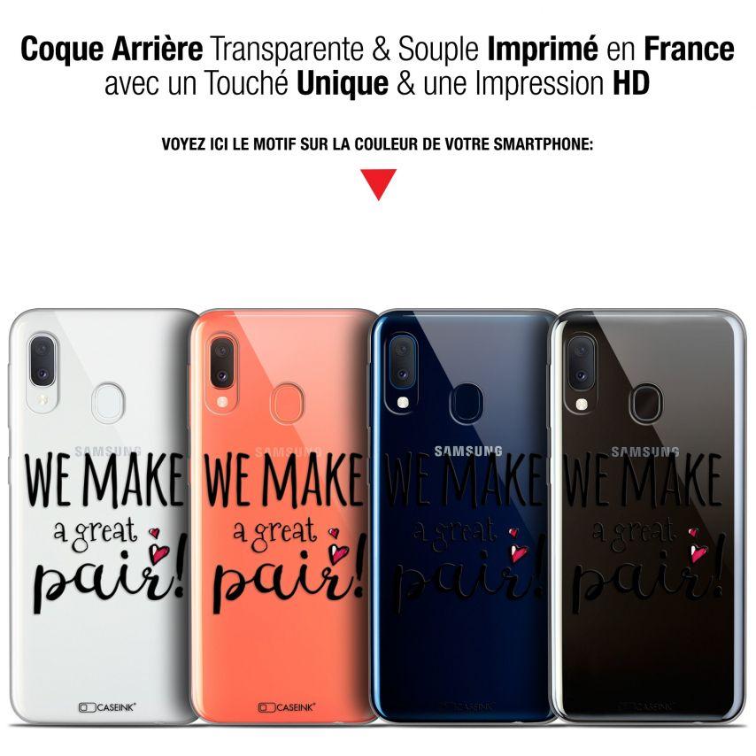 "Coque Gel Samsung Galaxy A20E (5.8"") Extra Fine Love - We Make Great Pair"