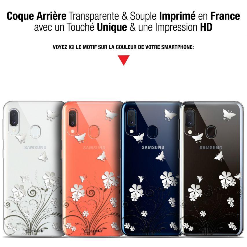 "Coque Gel Samsung Galaxy A20E (5.8"") Extra Fine Summer - Papillons"