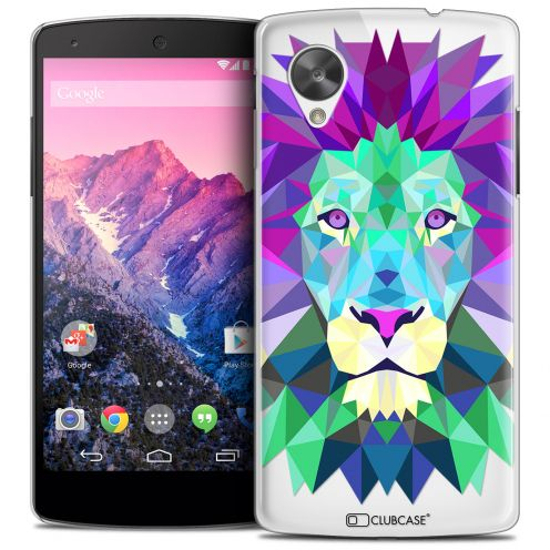 Coque Crystal Nexus 5 Extra Fine Polygon Animals - Lion