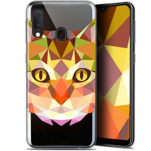 "Coque Gel Samsung Galaxy A20E (5.8"") Extra Fine Polygon Animals - Chat"