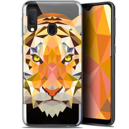 "Coque Gel Samsung Galaxy A20E (5.8"") Extra Fine Polygon Animals - Tigre"