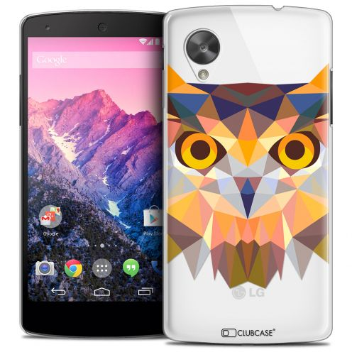 Coque Crystal Nexus 5 Extra Fine Polygon Animals - Hibou