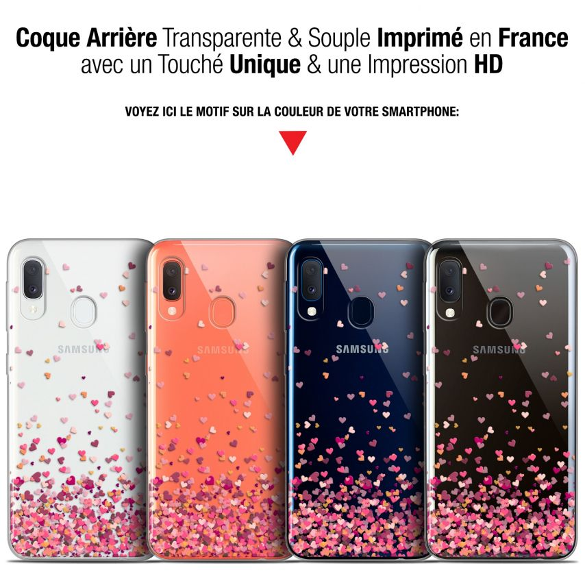 "Coque Gel Samsung Galaxy A20E (5.8"") Extra Fine Sweetie - Heart Flakes"