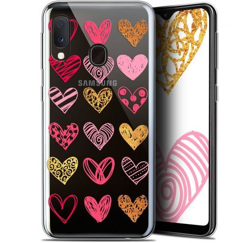 "Coque Gel Samsung Galaxy A20E (5.8"") Extra Fine Sweetie - Doodling Hearts"
