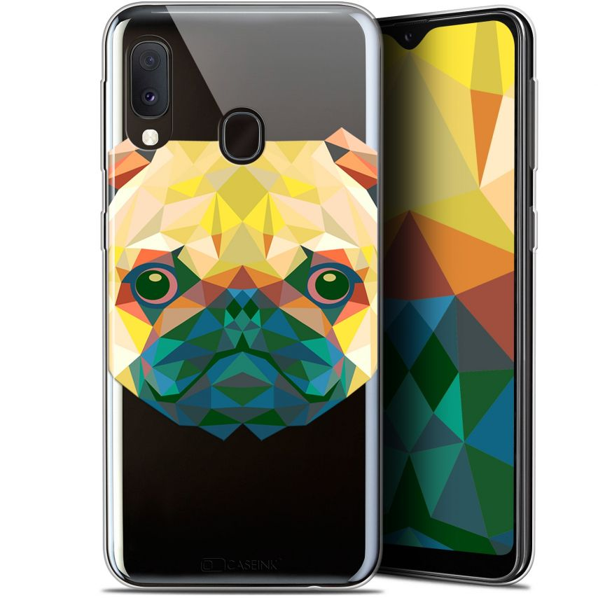 "Coque Gel Samsung Galaxy A20E (5.8"") Extra Fine Polygon Animals - Chien"