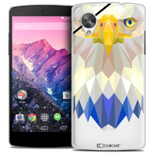 Coque Crystal Nexus 5 Extra Fine Polygon Animals - Aigle