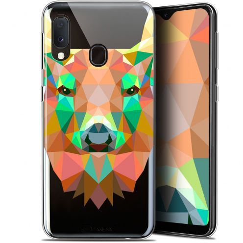 "Coque Gel Samsung Galaxy A20E (5.8"") Extra Fine Polygon Animals - Cerf"