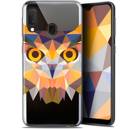 "Coque Gel Samsung Galaxy A20E (5.8"") Extra Fine Polygon Animals - Hibou"