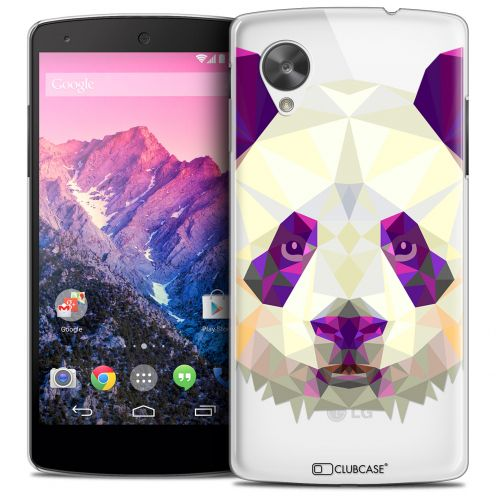 Coque Crystal Nexus 5 Extra Fine Polygon Animals - Panda