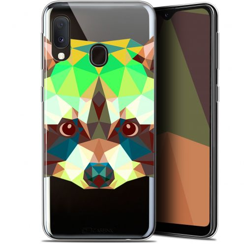 "Coque Gel Samsung Galaxy A20E (5.8"") Extra Fine Polygon Animals - Raton Laveur"