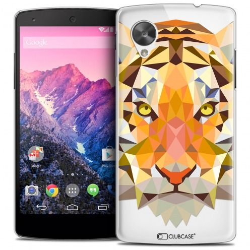 Coque Crystal Nexus 5 Extra Fine Polygon Animals - Tigre